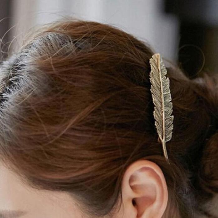 Barrette Plume Cheveux