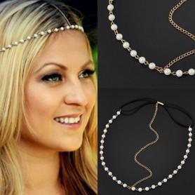 Headband Chaine avec perle