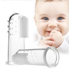 Brosse à dents de doigt pour bébé