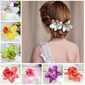 Barrette Fleur Orchidée Cheveux