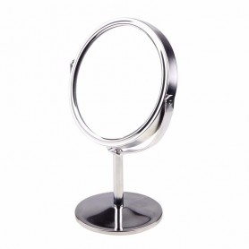 Petit Miroir rond de maquillage sur pied