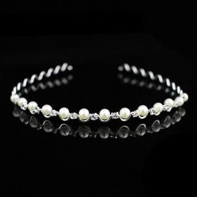 Serre Tête métal ondulé avec perle