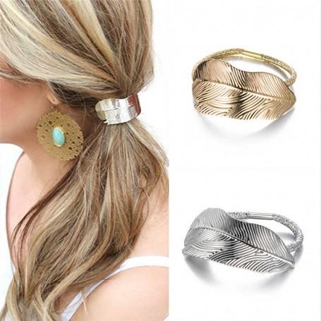 Élastique feuille métal cheveux