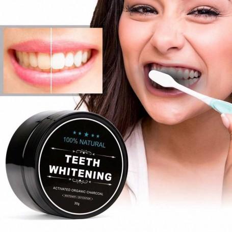 Poudre de Charbon blanchiment dentaire