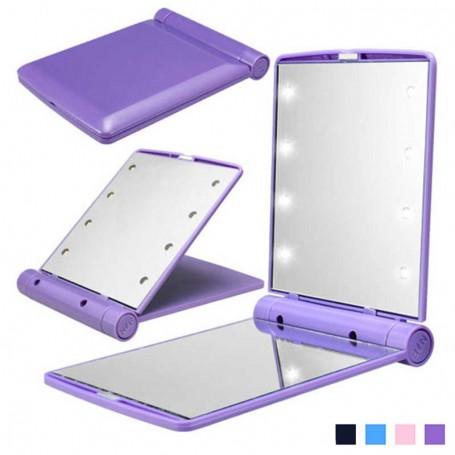 Miroir de Poche lumineux 8 LED