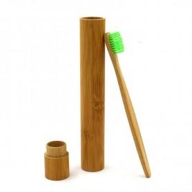 Tube en bambou pour brosse à dents