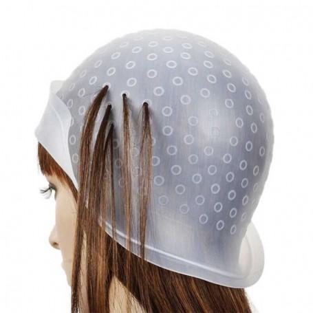 Bonnet à mèches en silicone avec crochet
