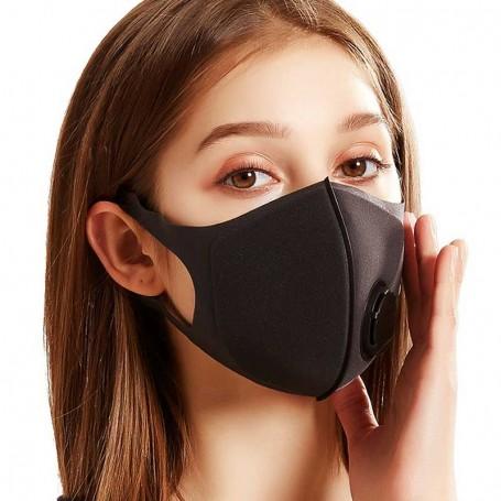 Masque respiratoire réutilisable lavable noir