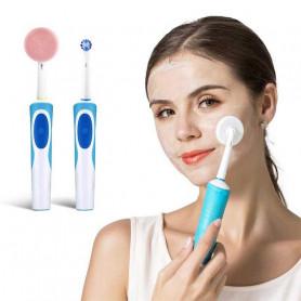 Disque nettoyant visage sur brosse à dents