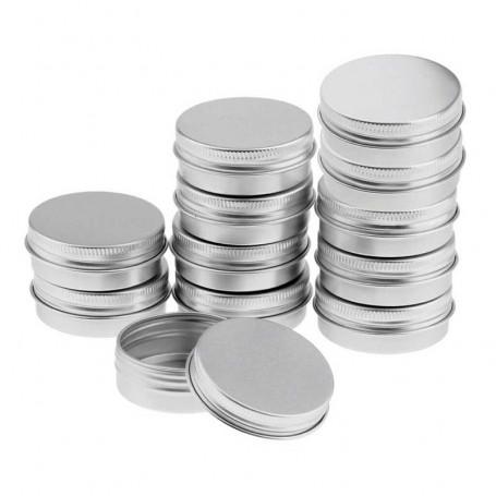 X10 Pots en Aluminium cosmétique 5gr.