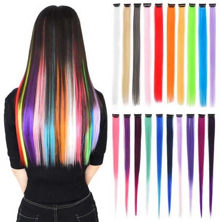 Extension mèche de cheveux colorée